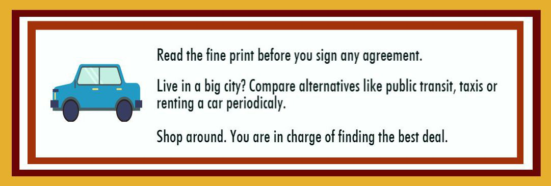 Tips buying or leasing a car